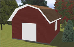 Barn Style Shed Blueprints