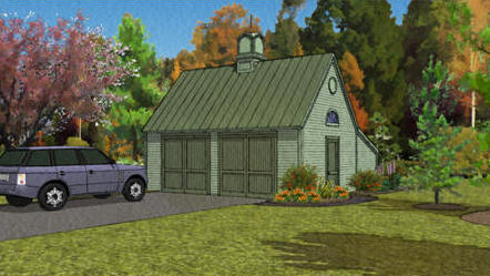 Free, Pole Frame, Two-Car Garage Plans