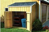 Lean-To Trash Can Shed Plans