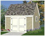 Free Plans for a 10' by 14' Storage Shed with Loft