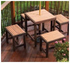 Outdoor Dining Benches and Table Plans