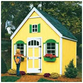 Combination Shed and Playhouse Kit from Betty Mills