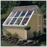 Solar Shed Greenhouse Building Kit from Betty Mills