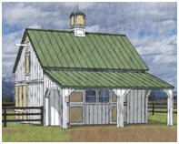 Small Horse Barn Plans by Donald J. Berg, AIA