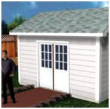 Gable Roof Storage Shed Design