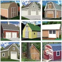 Download Dozens of plans for sheds, garages, barns and workshops