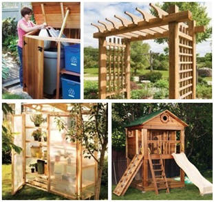 Diy outdoor structures free plans from canadian home for Diy play structures backyard