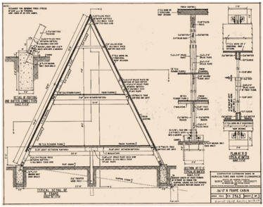 Free a frame cabin plans for Free a frame cabin plans