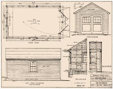 Free garage and workshop designs for Garage extension plans