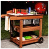Do It Yourself Backyard Barbecue Cart