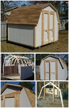 Planning on building a new shed? Use these free, do-it-yourself construction guides.