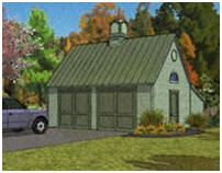 Pole-Frame, Two-Car Garage Plans by Donald J. Berg, AIA