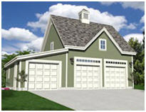 Free Garage, Carriage House, Workshop and Car Barn Plans