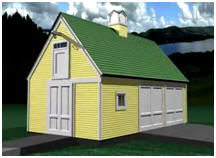 Free Pole-Frame, Two-Car Garage and Workshop Plans by Donald J. Berg, AIA