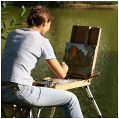 Today's Free Painting Lessons, Demonstrations, Tips and Techniques: Oil Paint Landscapes