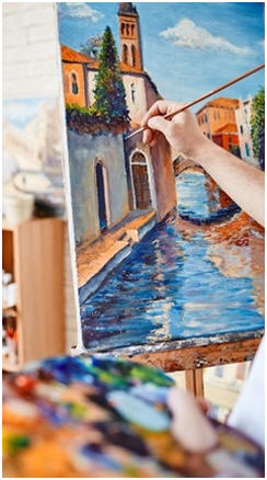 Paint Like an Artist - Learn how to use easy, quick-drying, inexpensive acrylic paints to create your own landscapes, seascapes, portraits, abstracts, still life scenes and more. Click for free, online lessons and step-by-step demonstrations by top artists.
