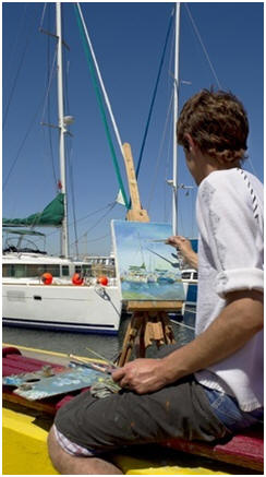 Unlock the Artist in You. Create beautiful seascapes, still life paintings, abstracts, landscapes and portraits with inexpensive, quick-drying acrylic paint. Just click to find and follow any and all of dozens of easy how-to lessons and demonstrations.