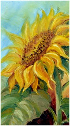Create Beautiful Flower and Still Life Paintings - Just click on the sunflower to discover dozens of free lessons that will show you how.