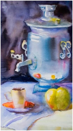 Enjoy painting still life scenes and flowers with watercolors. Click to follow easy, free lessons and demonstrations